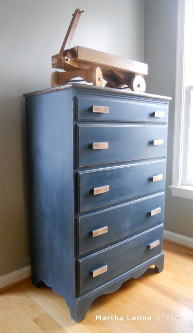 Boy Blue Dresser  at www.MarthaLeoneDesign.com