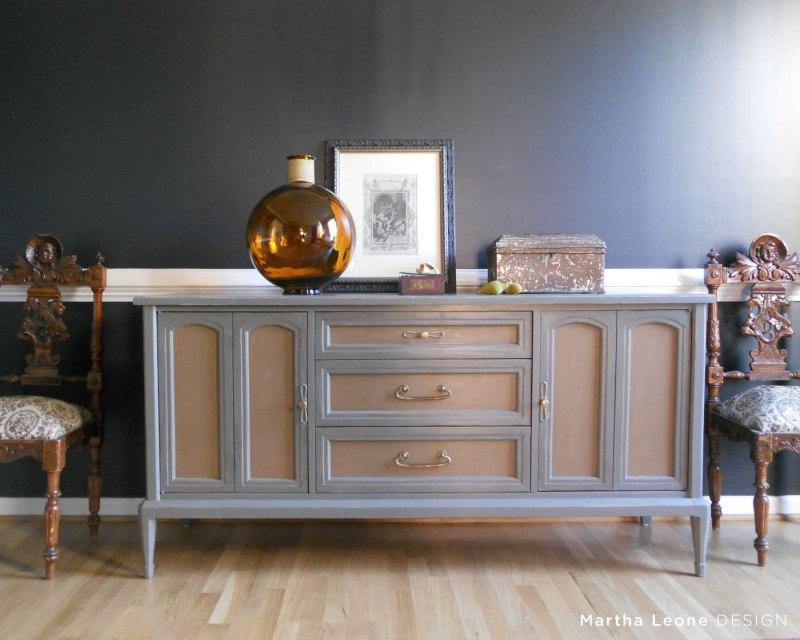 Gray Buffet 2Martha Leone Design