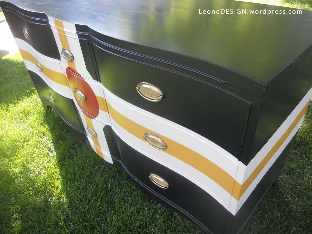 bold color on dresser