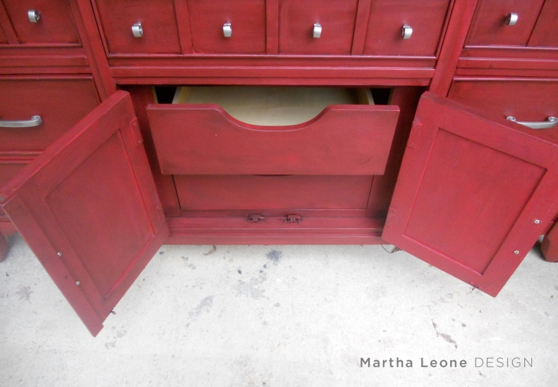 Red Buffet 1 MarthaLeoneDesign