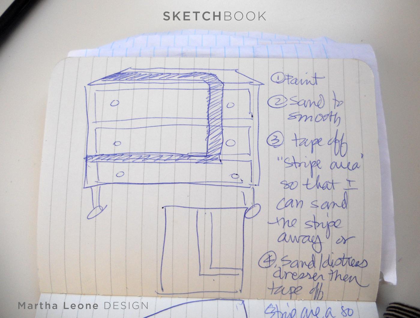 Empire sketch at MarthaLeoneDesign.com