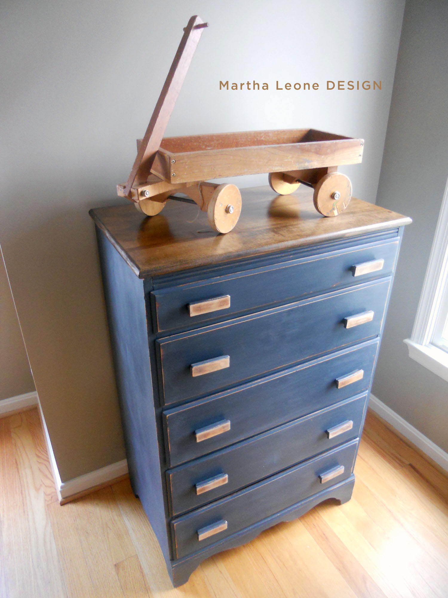Blue Painted Furniture Martha Leone Design