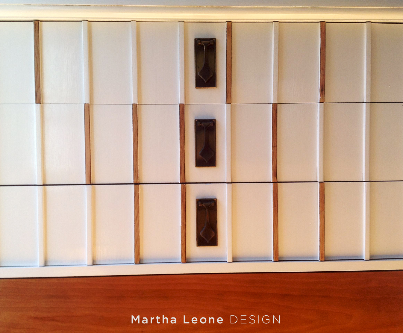 White and Stained MCM Dresser MarthaLeoneDesign6