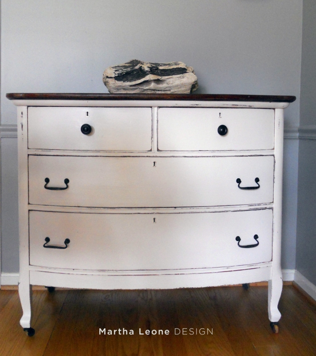Classic white early 20th century dresser