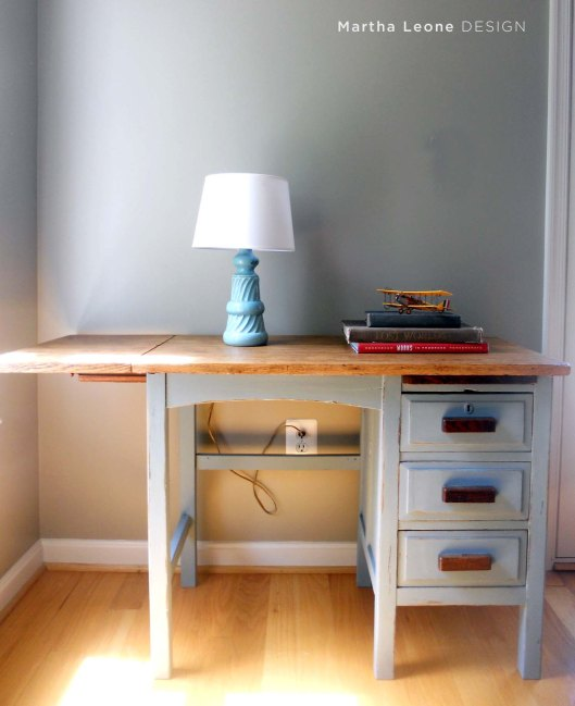 Blue Desk 2 MarthaLeoneDesign