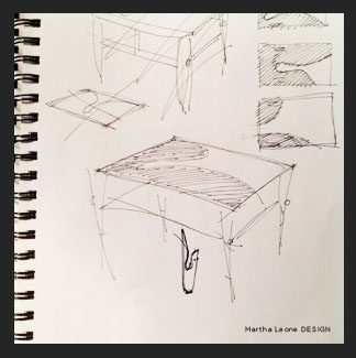 Brass Cap Table Sketch