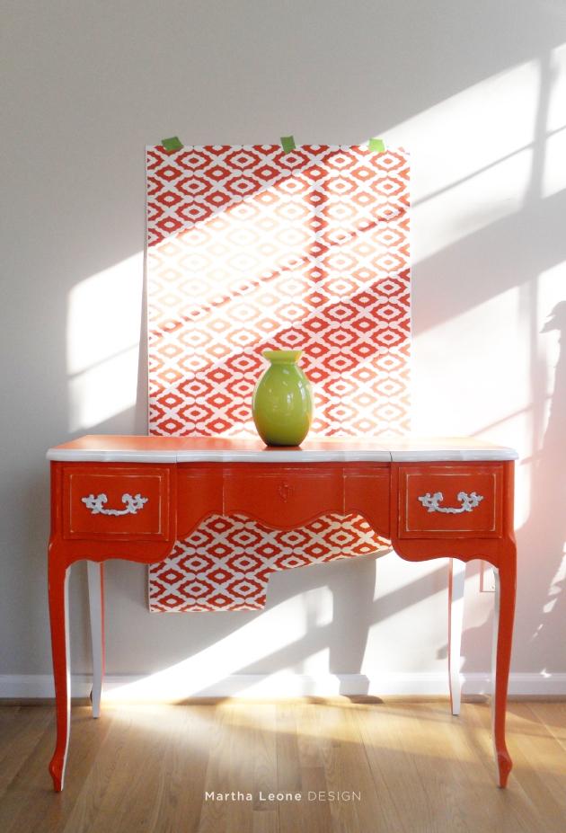 Orange table. Martha Leone Design.com