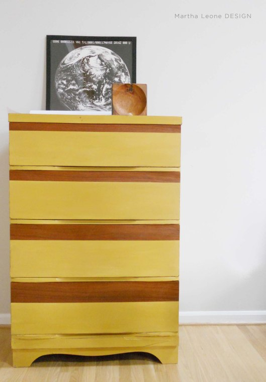 Spiced Yellow Mid-Century Dresser