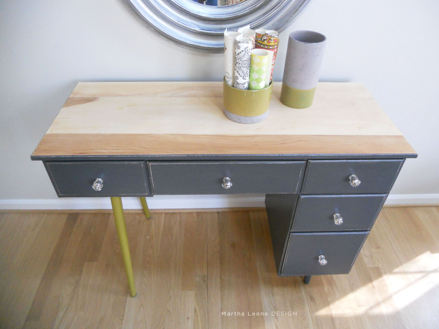 83 Mid century2 desk Martha Leone Design
