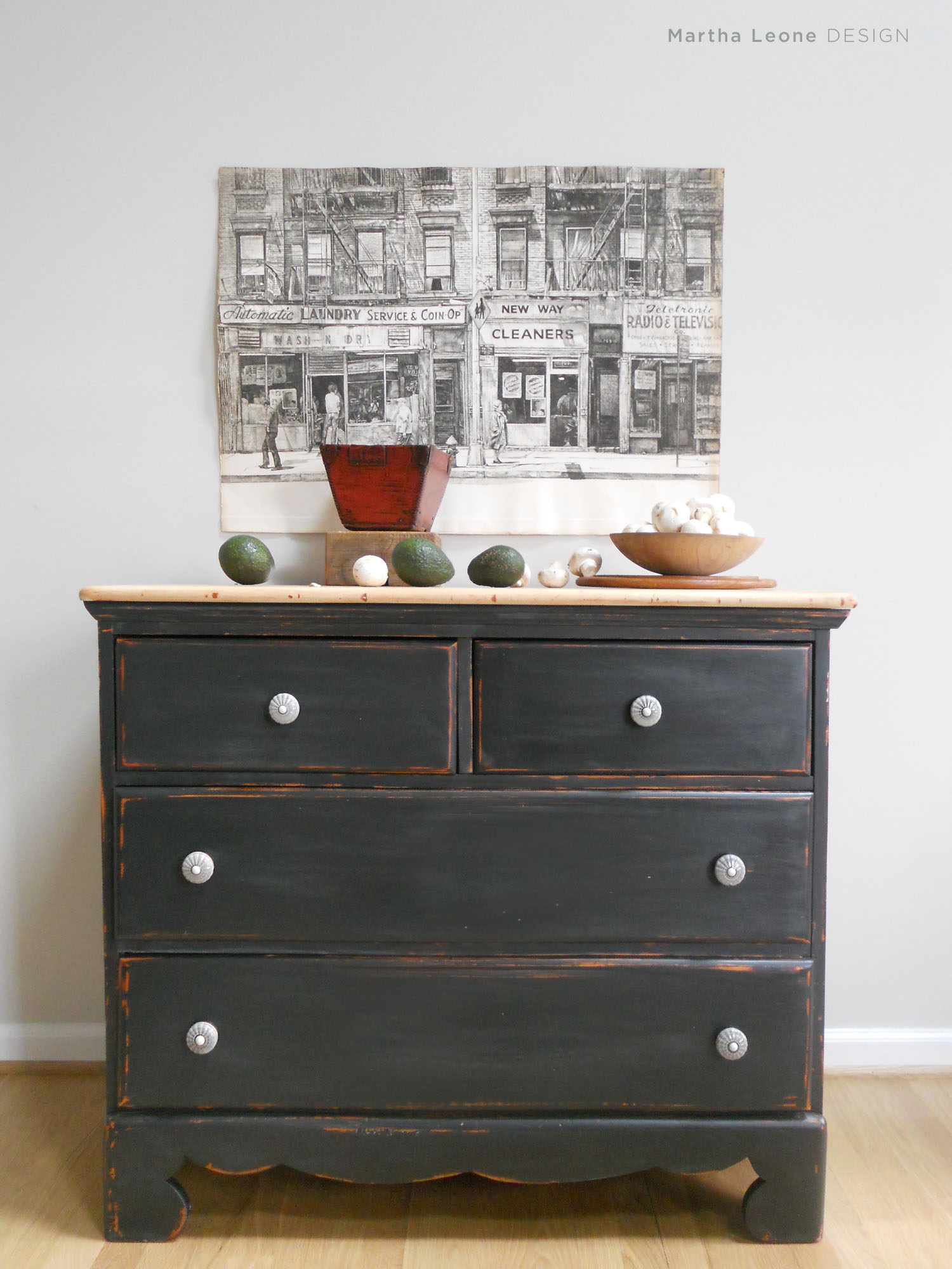 Black Chest of Drawers8 Martha Leone Design