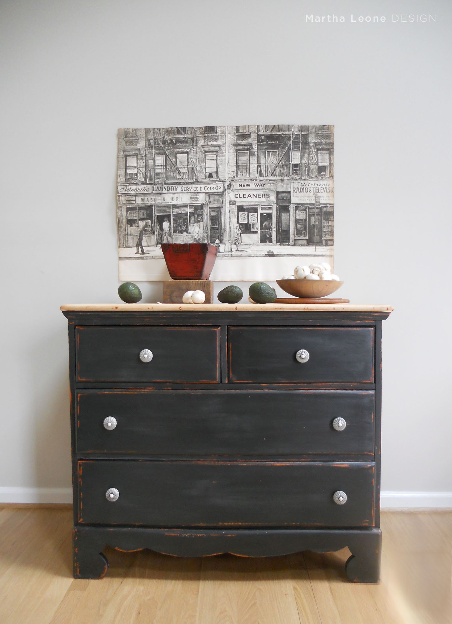 Black Chest of Drawers9 Martha Leone Design
