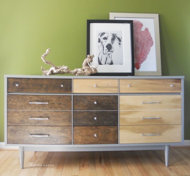 BrownGray credenza by Martha Leone Design