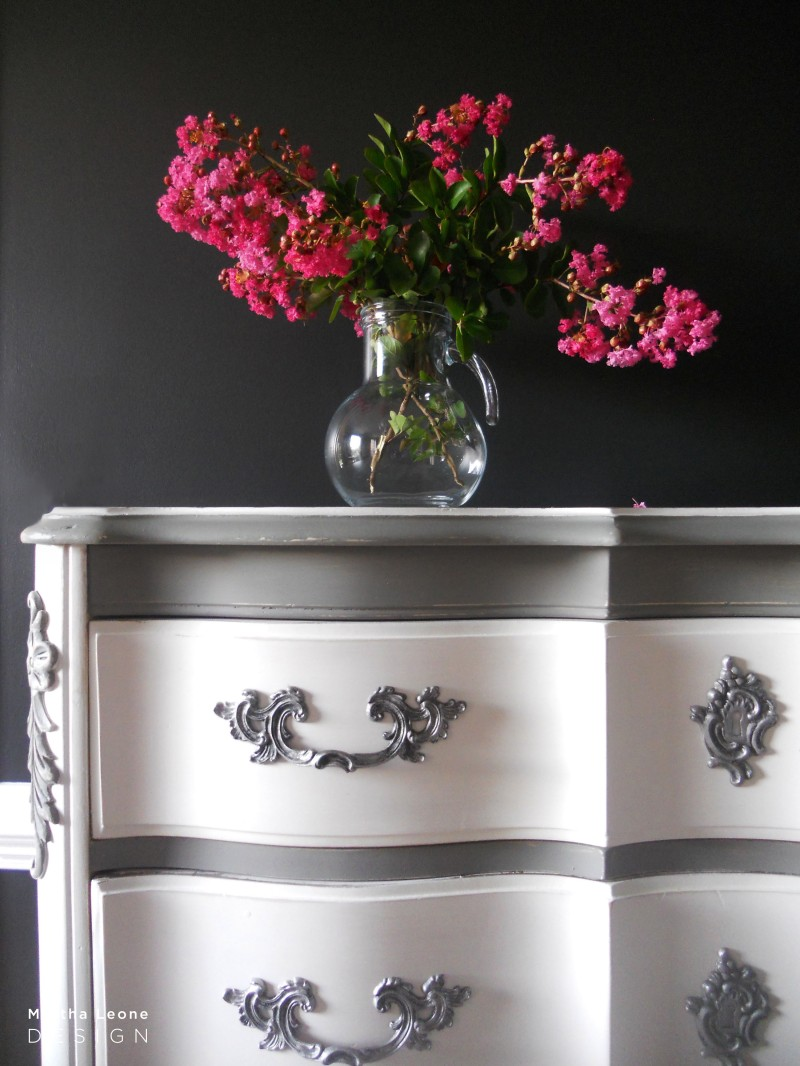 French Gray and white 4 by Martha Leone Design