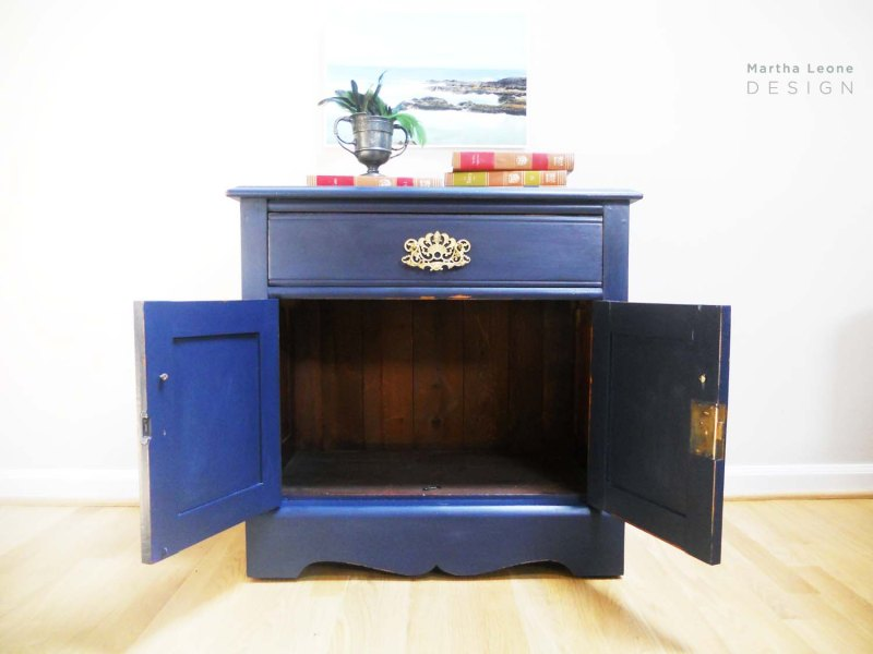 Navy Nightstand by Martha Leone Design