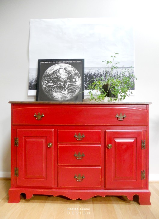 #104 Red Buffet by Martha Leone Design