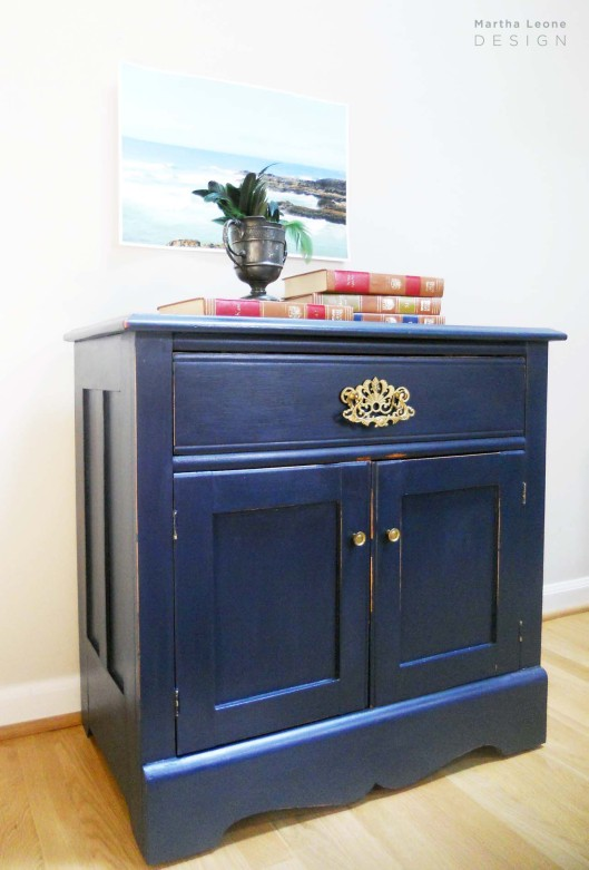 Navy Nightstand 4 by Martha Leone Design