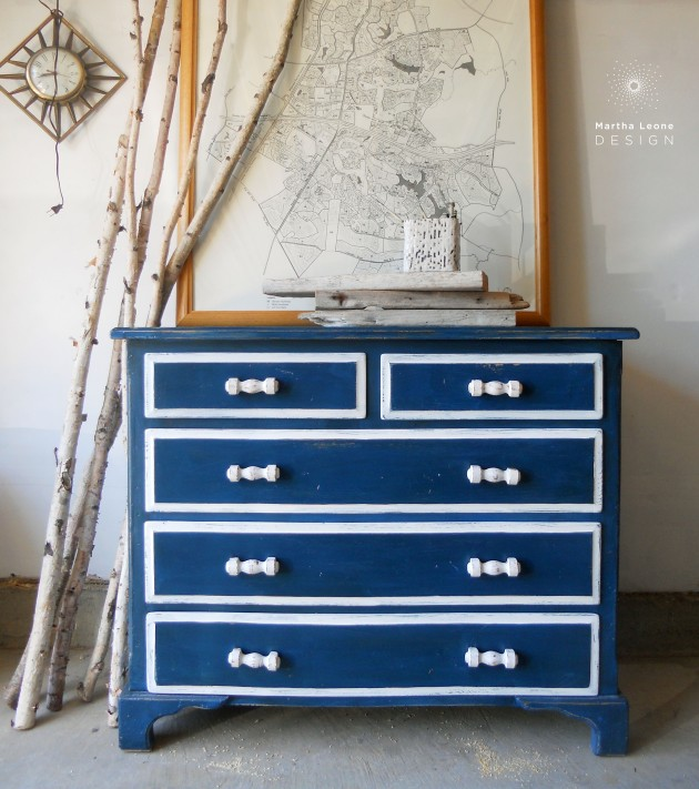 Peacock Beach Chest by Martha Leone Design