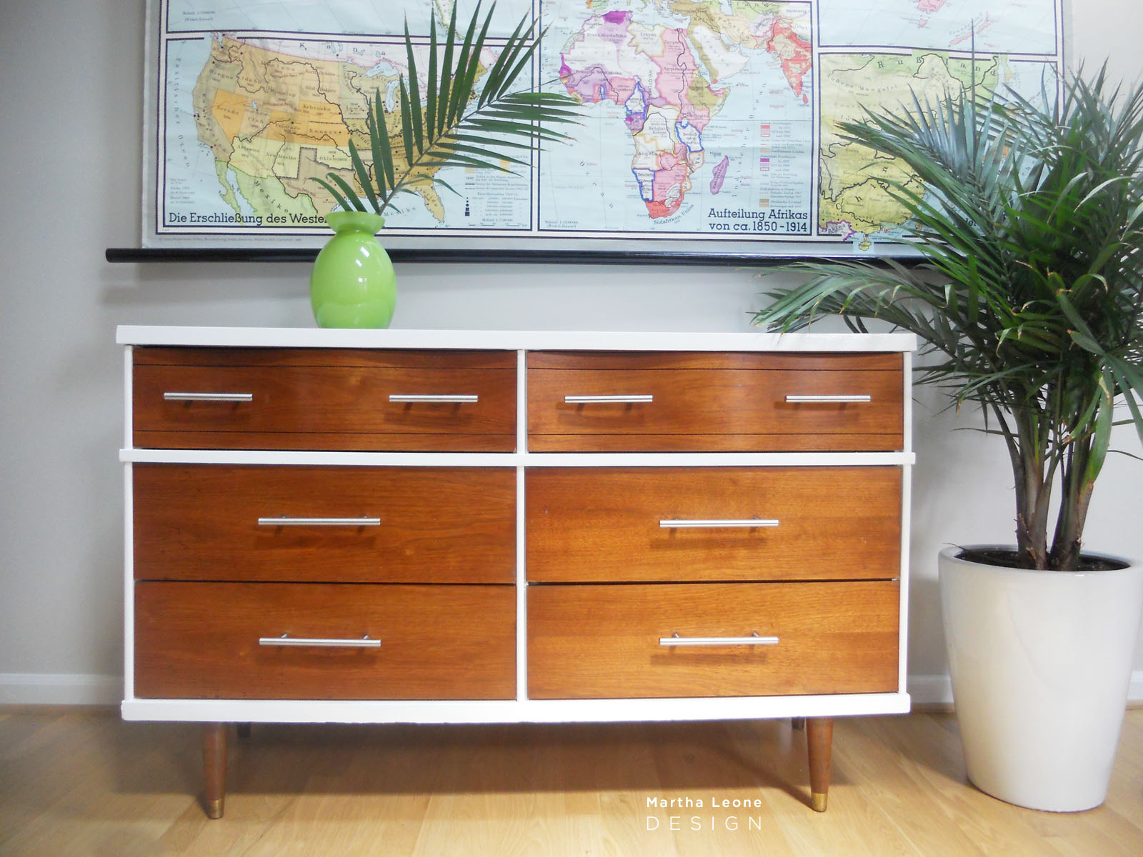 How I Paint Mid Century Furniture Martha Leone Design