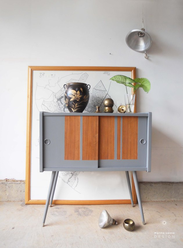 record cabinet by Martha Leone Design