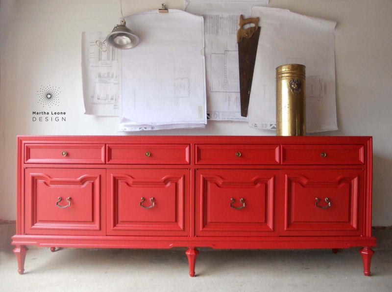 Red buffet by Martha Leone Design