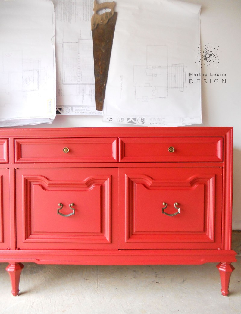 Red buffet2 by Martha Leone Design