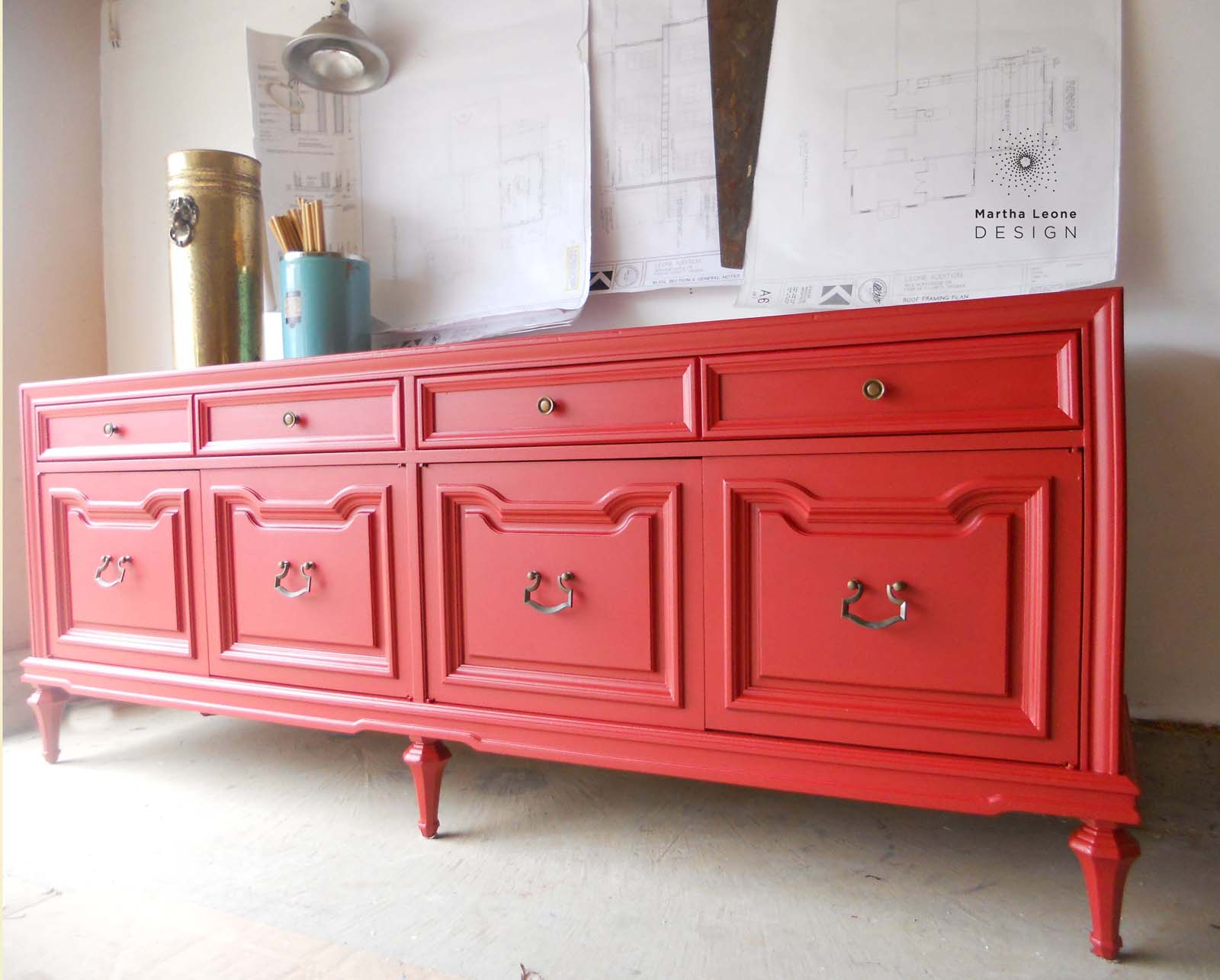 Red buffet3 by Martha Leone Design