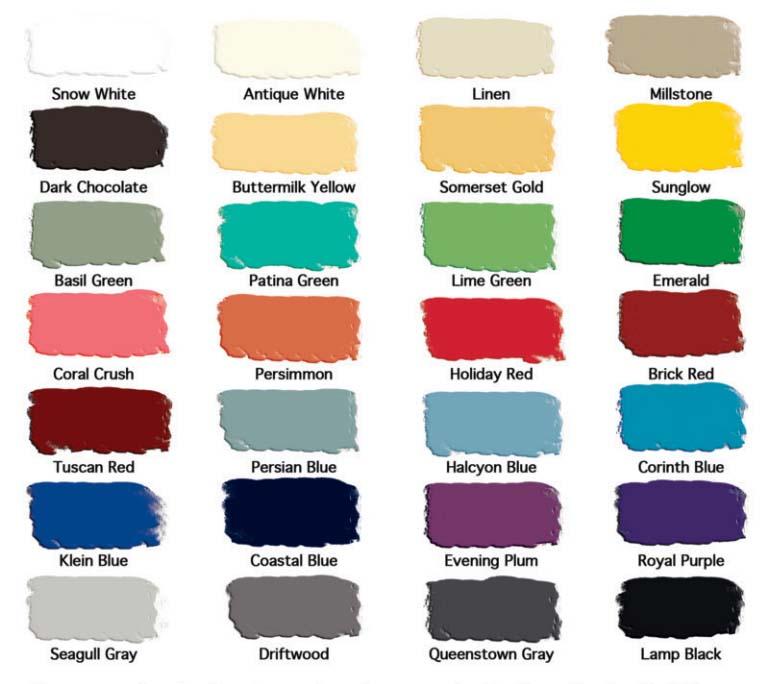 gf colors